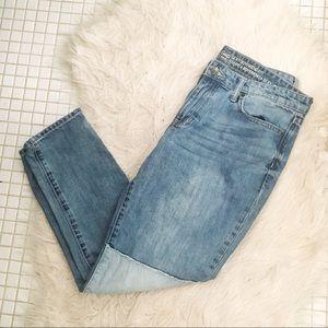 Gap Boyfriend Jeans - Embroidered Patchwork